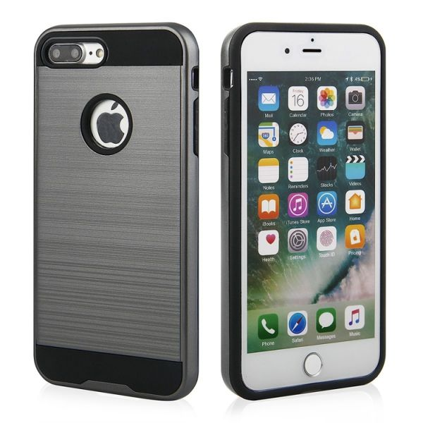 "Back Case ""Motomo"" für iPhone 7/8 Plus grau"